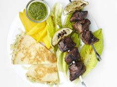 Steak Kebabs with Quesadillas Recipe | Food Network Kitchen | Food Network