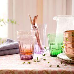 Om je tafel éxtra mee op te fleuren: de Lucca waterglazen van Bitossi Home