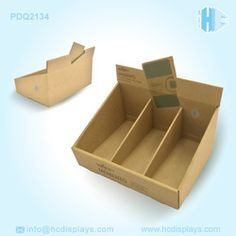 Recyclable pop template cardboard display box for Promotion