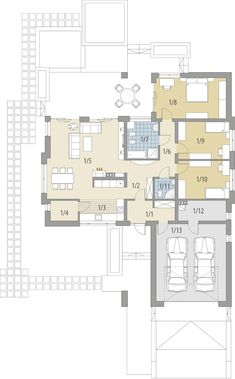DOM.PL™ - Projekt domu FA Julia CE - DOM GC5-64 - gotowy koszt budowy Planer, Home Projects, Tiny House, House Plans, Sweet Home, Floor Plans, House Design, Flooring, How To Plan