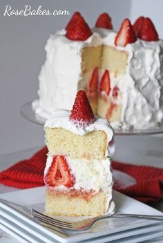 Strawberry Shortcake Cake - wouldn't this be a great dessert for Valentines!?