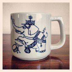 Vintage Nymolle Wiinblad Circus Elephant Child Cup. on Etsy, $26.00