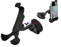 Support multifonctions 360° Smartphone pare-brise de voiture (Noir)
