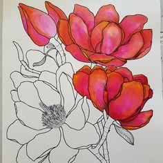 Le printemps arrive et nous inspire de ses couleurs. Les fleurs éclosent sur NatWorkshop :) Le printemps est arrivé sur NatWorkshop 🌱🌺🖌 des fleurs à colorier poussent partout 😍 #fleurs #flowers #couleur #coloriageantistress #coloriage #printemps #coloring #antistress #adultcoloringbook #adultcoloring #dessin #drawing #happyness #encre #ink #aquarelle #watercolor #fushia #rose #colorex