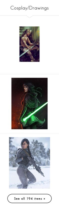 """""""Cosplay/Drawings"""" by xmakaix ❤ liked on Polyvore featuring bountyhunter, starwars, sith, Jedi, smuggler, demigod, rick riordan, home, kitchen & dining and kitchen gadgets & tools"""