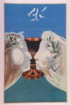 The Gold Chalice - Dali Salvador Magritte, Salvador Dali Kunst, Figueras, Eugenia Loli, Dali Paintings, Les Religions, Art Moderne, Visionary Art, Surreal Art