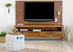 """TokStok - MINAS RACK/PAINEL Medindo 198x98,5cm, o rack painel Minas é indicado para dar um toque despojado e moderno à decoração e organização de ambientes de estar e home cinema, ou como cabeceira para camas box com até 158x198cm (Queen Size). Fixado diretamente à parede de alvenaria, o rack painel Minas suporta carga máxima de até 50kg e recebe TVs LCD/LED/Plasma de até 55"""". Pode ser usado sozinho ou combinado ao rack de 190x43 cm da mesma linha, vendido separadamente."""