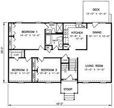 ideas about Split Level House Plans on Pinterest   House     s Split Level House Plans   Split Level House Plan SD
