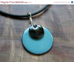 Mothers Day SALE Black and Blue necklace handmade by Steinvika, $26.10