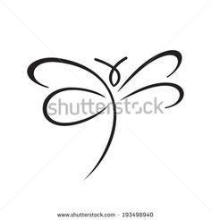 butterfly sign branding corporate logo isolated on white background - stock vector