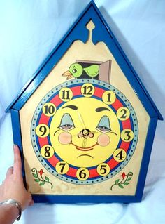 Fantastic Vintage Moon Face Clock by CherryBerryVintage on Etsy, $175.00