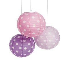 Papierlaterne Lampion Laternenset in lila rosa und flieder mit weißen Punkten 3 Stück: Amazon.de: Beleuchtung
