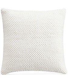 "Savannah Home Sakura Knit 18"" Square Decorative Pillow"