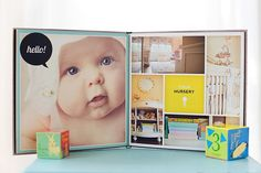 Heirloom Baby Album for Newborn and Baby Photographers