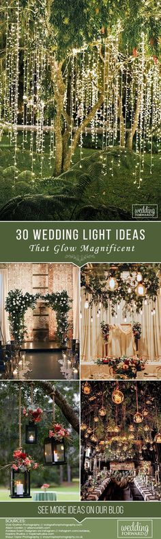 30 Wedding Light Ideas That Glow Magnificent ❤️ See more: http://www.weddingforward.com/wedding-light-ideas/ #wedding #decorations #weddingdecoration