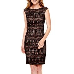 jcpenney.com | Black Label by Evan-Picone Sleeveless Lace Sheath Dress