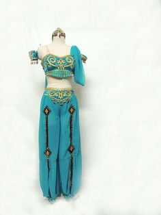 Amazing costume for Nutcracker's Arabian dance or for the ballet La Bayadere. This fantastic professional costume is an exclusive design only available at Dancewear by Patricia. Made with soft fabric,