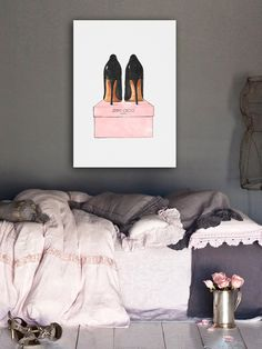 Night Out Stilettos Canvas Art from Luxury on Gilt
