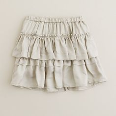 The ultimate in cozy chic—this twirl-worthy skirt is fashioned from our soft and silky viscose twill and finished with an easy pull-on elastic waistband, so dressing herself is a breeze. Cupcake skirt shape. Import. Machine wash.