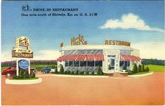 Hicks Drive In Dixie Hwy, Louisville,  Ky 1950,s