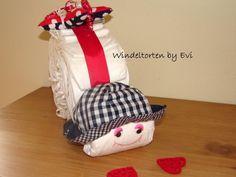 Windelschnecke 'Sommergirl', süsse Windeltorte von Windeltorten By Evi auf DaWanda.com