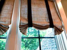 easy DIY...burlap curtains