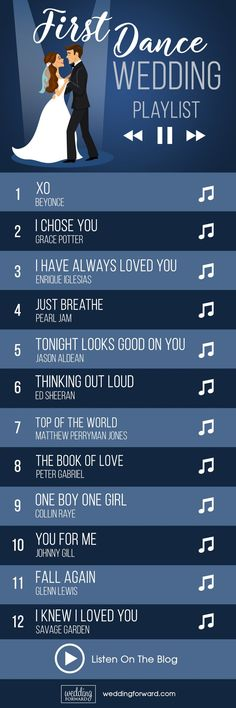 40 First Dance Wedding Songs: Modern & Classic Ideas ❤️ The first dance wedding songs playlist is a help for choice the first dance between a bride and groom as the newlyweds, which is often the first dance of the wedding party. See more: http://www.weddingforward.com/first-dance-wedding-songs/ #first #dance #wedding #songs
