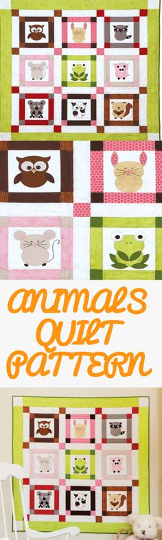 Pattern Freebies: GO! Talk to the Animals Baby Quilt Pattern | National Quilters…