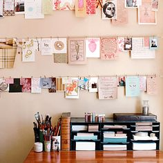I love walls full of photos and prints but my mood and address change too regularly to justify all those holes. That must be why I'm so enamoured with these new and old ideas for creating a picture wall that changes with your mood without compromising your walls. There are even some great creative reuse ideas in here.