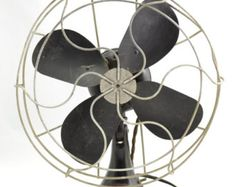 Vintage 1940s Emerson 10 In. Desk Table Top Adjustable Oscillating Electric  Fan, Single Speed