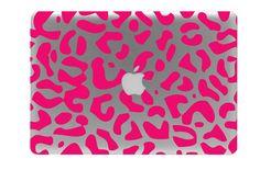 Leopard Print Macbook Decal / Macbook Sticker / by BengalWorks, $10.99