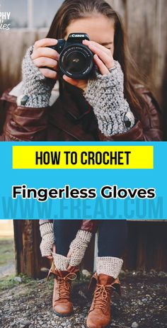 crochet Fingerless Gloves with Boot Cuffs pattern FingerlessGloves Crochet Mittens Pattern, Fingerless Gloves Crochet Pattern, Crochet Patterns, Crochet Ideas, Crochet Projects, Crochet Tutorials, Yarn Projects, Simply Crochet, Boot Cuffs