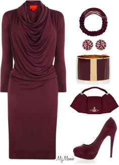 A fashion look from December 2012 featuring rayon dress, high heel pumps and purple bags. Browse and shop related looks. Fashion Wear, Modest Fashion, Fashion Looks, Fashion Outfits, Womens Fashion, Church Outfits, Dressy Dresses, Fashion Details, What To Wear