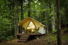 """A growing number of """"glamping"""" resorts in Upstate New York offer the grandeur of the great outdoors with all the amenities of luxury lodging."""