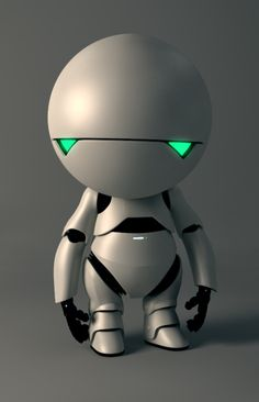 "Marvin [The Paranoid Android] - Hitchhikers Guide to the Galaxy - his favourite saying was ""life, don't talk to me about life"""