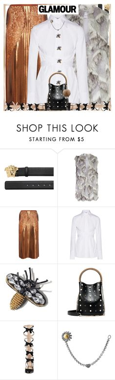 """Style's Tip:How to wear a White Cotton Shirt?"" by marymary91 ❤ liked on Polyvore featuring Versace, Reiss, STELLA McCARTNEY, Helmut Lang, Gucci and AZZA FAHMY"