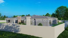 4 Bedroom House Plan - My Building Plans South Africa 4 Bedroom House Plans, My House Plans, My Building, Building Plans, Architect Fees, African House, Construction Drawings, Open Plan, Windows And Doors