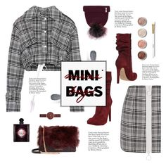"""Mini Bag, Maxi Fun!"" by vicky-lavinia ❤ liked on Polyvore featuring Off-White, Jolie By Edward Spiers, Ted Baker, Skagen, Yves Saint Laurent, Clé de Peau Beauté and Terre Mère"