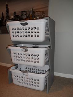 Great idea for sorting/organizing laundry...