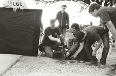 Behind the scenes: Cinematographer Steve Yedlin and crew.