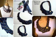 Necktie Statement Necklace DIY