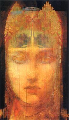 The numinous beauty of the Goddess and the love Her presence evokes within the human heart. Art by Greg Spalenka My Art Studio, Divine Feminine, Canvas, Installation Art, Lovers Art, Alice In Wonderland, Surrealism, Street Art, Artwork