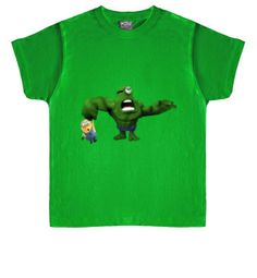 Camiseta infantil Minion Hulk http://www.latostadora.com/emcmasquecamisetas #minions #comic #camisetas