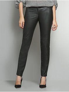 Faux Leather Slim Leg Pant