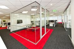 Glass enclosed exec. office