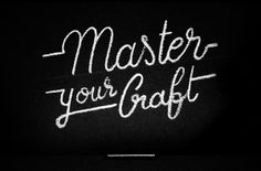 White on Black Lettering by Ligature Collective, via Behance