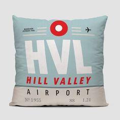 cc32427e430 HVL - Hill Valley Airport - Throw Pillow