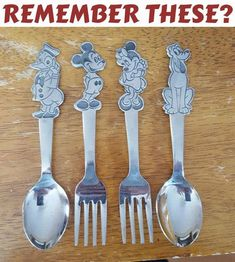 Set of 4 Disney youth stainless silverware. This set includes: 1 Mickey Mouse fork 1 Minnie Mouse fork 1 Donald Duck spoon 1 Pluto spoon Walt Disney Prod. By Bonny Made in Japan My Childhood Memories, Sweet Memories, 80s Kids, I Remember When, Oldies But Goodies, Ol Days, My Memory, The Good Old Days, Vintage Toys
