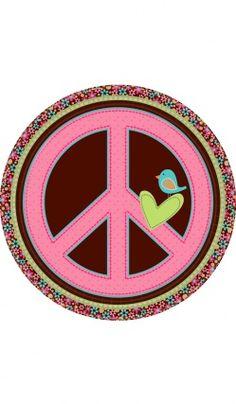 """Assiettes En Carton """"Hippie Chic"""" (22,9Cm)"""