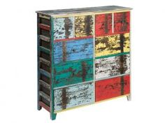 Mueble vintage con 10 cajones
